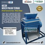 Mesin Mixer Pakan Ternak (model horizontal mixer / Ribbon Mixer)