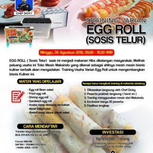 Training Usaha Varian Egg Roll ( Sosis Telur ), Minggu 26 Agustus 2018