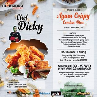 Training Usaha Ayam Crispy Dan Cordon Bleu, 16 September 2018