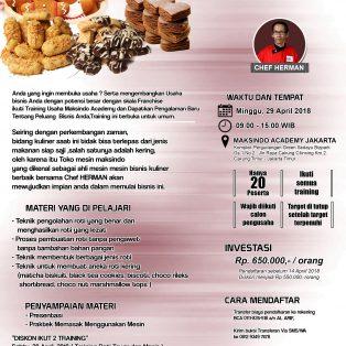Training Usaha Roti Kering, 29 April 2018