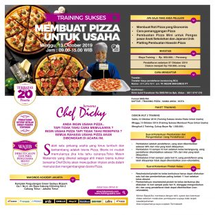 Training Sukses Membuat Pizza Untuk Usaha,Minggu 13 Oktober 2019
