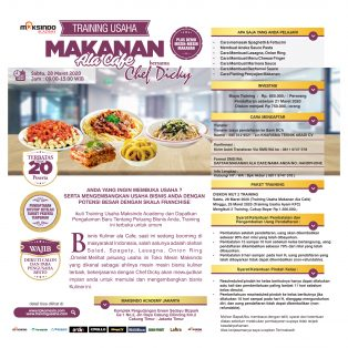 Training Usaha Makanan Ala Cafe, Sabtu 28 Maret 2020